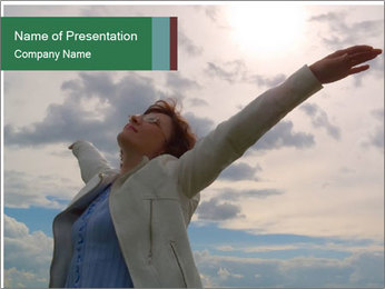 Woman in Ecstasy PowerPoint Template