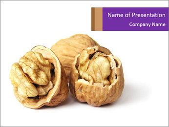 Health Benefits of Walnuts PowerPoint Template