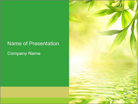 bamboo powerpoint template smiletemplates com