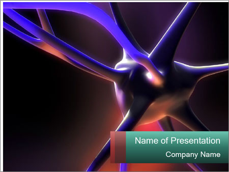 3d Nerve Cell Powerpoint Template Backgrounds Google Slides Id