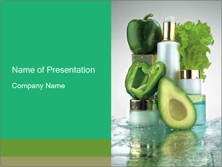 Green cosmetics powerpoint template backgrounds id 0000013440 green cosmetics powerpoint templates toneelgroepblik Images