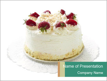 Festive Cake PowerPoint Template