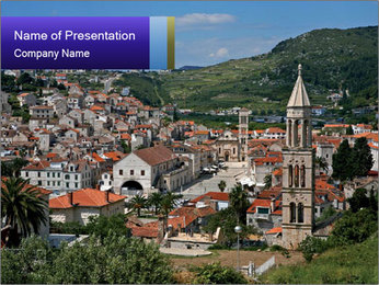 View of Beautiful City PowerPoint Template