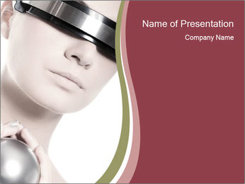 Realistic Cyber Woman PowerPoint Template
