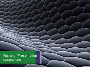 Black Honeycomb Surface PowerPoint Template