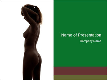 Silhouette of Nude Woman PowerPoint Template