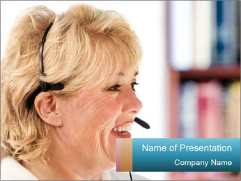 Customer Service Consultant PowerPoint Template