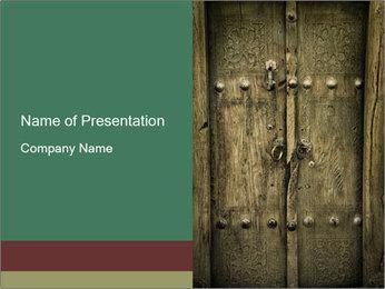 Door in the Castle PowerPoint Template