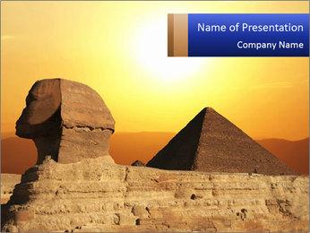 World Heritage Egyptian Sphinx PowerPoint Template