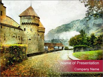 Castle in Switzerland PowerPoint Template
