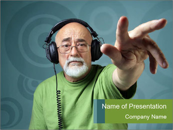 Grandpapa DJ PowerPoint Template