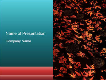 Silk Fabric with Beautiful Floral Print PowerPoint Template