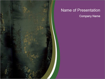 Dark Silk Fabric PowerPoint Template