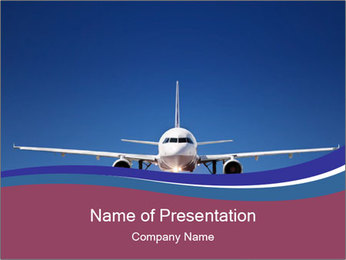 New Plane PowerPoint Template