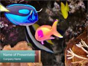 Exotic Fish in Aquarium PowerPoint Templates