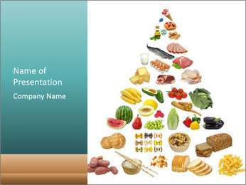 Well-Known Food Pyramid PowerPoint Template