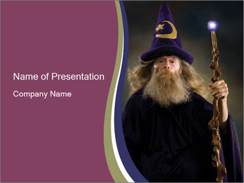 Wizard Man PowerPoint Template