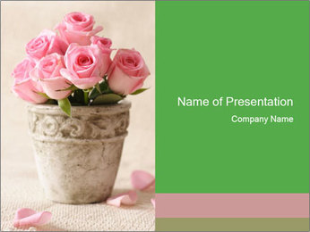Decorative Pink Roses PowerPoint Template