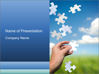 White Puzzle PowerPoint Template