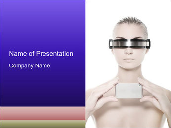 Futuristic Woman PowerPoint Template