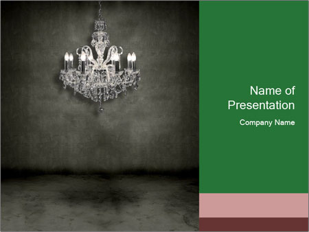 Creepy powerpoint template smiletemplates luxury victorian chandelier powerpoint template toneelgroepblik Images