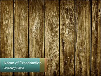 Old Wooden Panels Modèles des présentations  PowerPoint