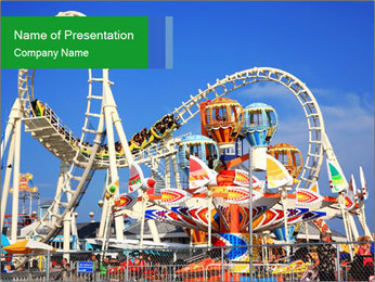 Have Fun at Amusement Park PowerPoint Template