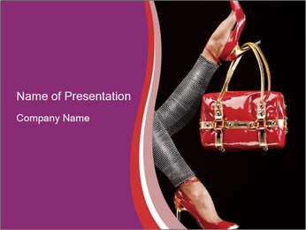 Red Chick Handbag PowerPoint Template
