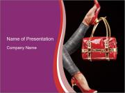 Red Chick Handbag PowerPoint Templates