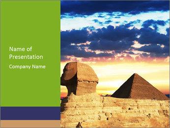 Egyptian Pyramid on Sunset PowerPoint Template