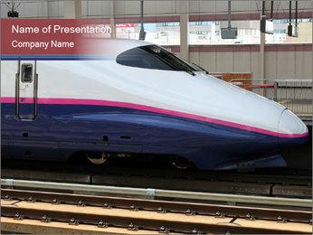 Asian Modern Train PowerPoint Template