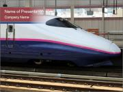 Asian Modern Train PowerPoint Templates