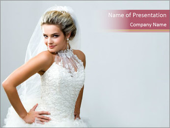 Charming Bride PowerPoint Template
