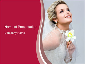 Bride with Orchid PowerPoint Template