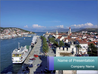 City Harbour in Croatia PowerPoint Template