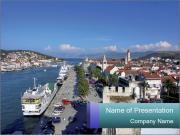 City Harbour in Croatia PowerPoint Templates