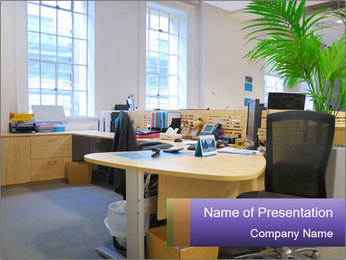 Office Open Area PowerPoint Template