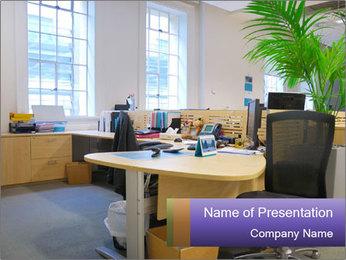 Office Open Area PowerPoint Template