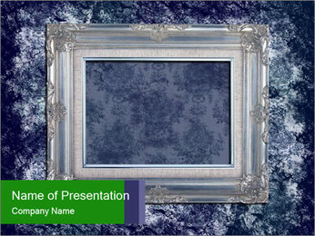 Grey Vintage Frame PowerPoint Template