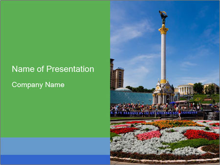 Independence square in the capital of ukraine powerpoint template independence square in the capital of ukraine powerpoint templates toneelgroepblik Image collections