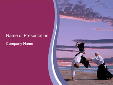 Martial arts master and student powerpoint template backgrounds id martial arts master and student powerpoint templates toneelgroepblik Images