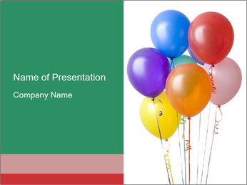 Balloons for Anniversary Celebration PowerPoint Template