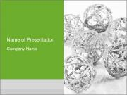 Siver Balls for New Year Tree PowerPoint Templates