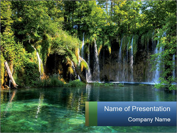 Beautiful Waterfalls in Croatia PowerPoint Template