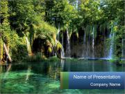 Beautiful Waterfalls in Croatia PowerPoint Templates