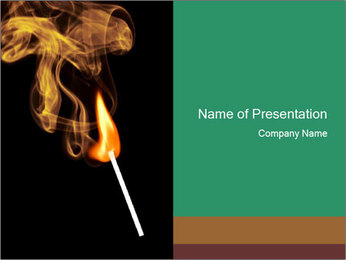 Match Stick with Fire PowerPoint Template