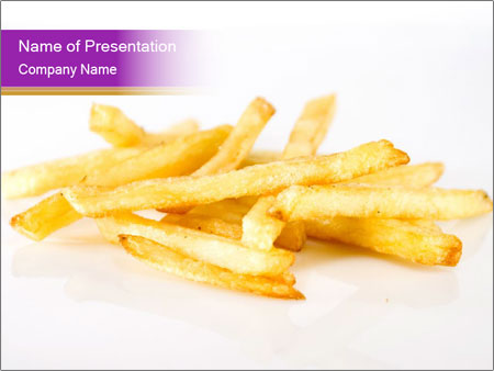Fattening French Fries Powerpoint Template Backgrounds Google