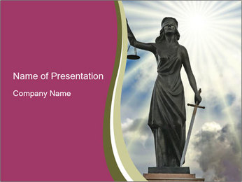 Lady Justice Statue PowerPoint Template
