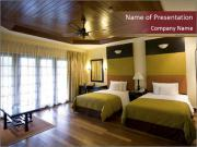 Double Hotel Room PowerPoint Templates