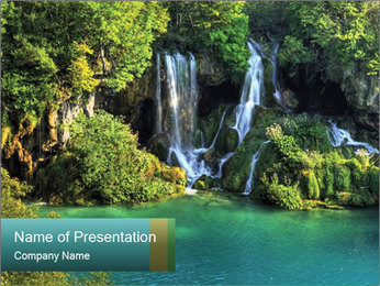 Waterfalls in National Park PowerPoint Template